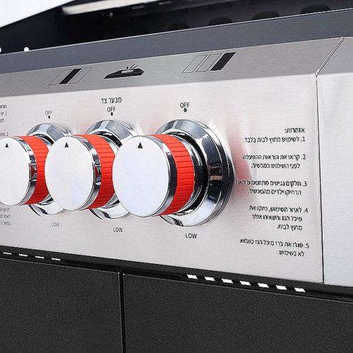 גריל גז 3 מבערים + כירת צד SmartGrill דגם KYQ-K23ST