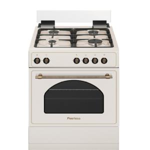 """תנור כפרי רטרו משולב גז 60 ס""""מ בז' פירלס דגם PR-6060 BEJ"""