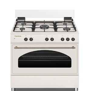 """תנור כפרי רטרו משולב גז 90 ס""""מ בז' פירלס דגם PR-9060 BEJ"""