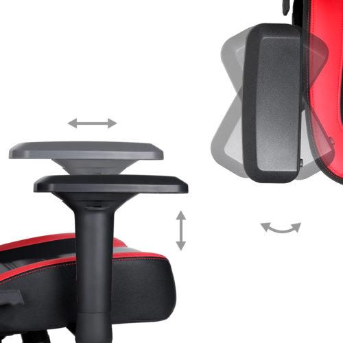 כיסא גיימינג D4 מאובזר ומרופד SCORPION MARVO דגם CH-118