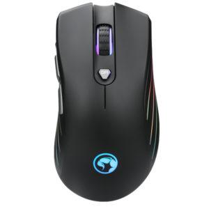עכבר גיימינג 7 לחצנים עם תאורת RGB ומהירות 7200 Marvo DPI