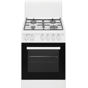 """תנור משולב כיריים גז 50 ס""""מ לבן פירלס דגם PR-5005 WH"""