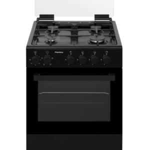 """תנור משולב כיריים גז 60 ס""""מ פירלס דגם PR-6006 BL"""