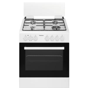 """תנור משולב כיריים גז 60 ס""""מ פירלס דגם PR-6006 WH"""