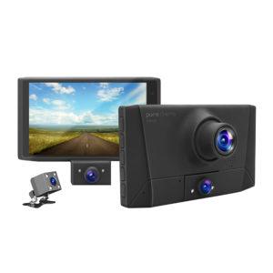 מצלמת דרך לרכב עם 3 עדשות צילום + חיישן G