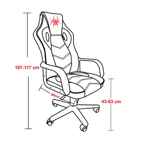 כיסא גיימינג ארגונומי ובטיחותי כולל כרית תמיכת ראש מובנית SPIDER-JOKER