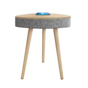 שולחן חכם מעוצב עם רמקול בלוטוס ועמדת טעינה אלחוטית